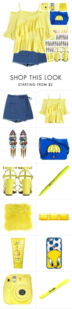 """""""Summer Time!"""" by ritaof ❤ liked on Polyvore featuring Yazbukey, Valentino, Zoeppritz, Tina Frey Designs, Tony Moly, Casetify, Fuji and Sharpie"""