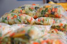 Seleta de legumes congelados para toda a semana