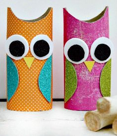 Adorable Kids' Craft: Paper Roll Owls