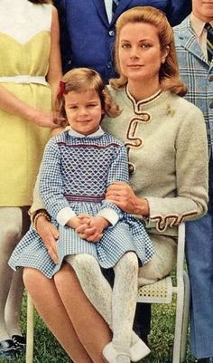 Princess Stephanie on her mother's lap