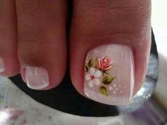 Pedicure Nail Art, Pedicure Designs, Toe Nail Designs, Toe Nail Art, Toe Nails, Nails Design, French Nails, Jamaica Nails, Flower Nails