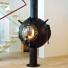 Russian artist Mati Karmin takes old Soviet deep-sea mines and turns them into amazing steampunk furniture interior design vintage industrial fire Eco Furniture, Furniture Making, Furniture Design, Weird Furniture, Nautical Furniture, Furniture Market, Recycled Furniture, Steampunk Furniture, Steampunk Interior