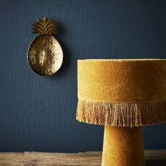 Velvet table lamp mustard from Madam Stoltz. This table lamp is ideal in a bedroom or on a desk. Unusual Table Lamps, Bright Homes, Room Lamp, Home Lighting, Lighting Ideas, Decoration, Sconces, Wall Lights, Retro