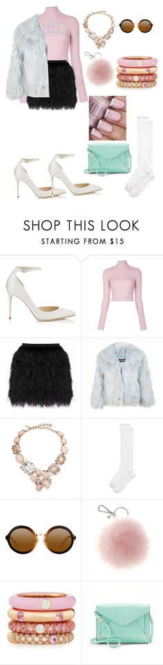"""Scream queens/my halloween costume"" by alixzaneski ❤ liked on Polyvore featuring Jimmy Choo, A.L.C., Raoul, Miss Selfridge, Oscar de la Renta, Kate Spade, Adolfo Courrier and Apt. 9"