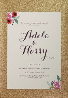 Christmas Calligraphy Wedding Invitation