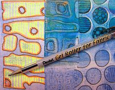 Printing with Gelli Arts®: Gelli Printing — Techniques on Fabric!!!
