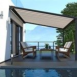 Pergola with high stability Rustic Pergola, Small Pergola, Pergola With Roof, Aluminum Pergola, Infrared Heater, Privacy Walls, Mosquito Curtains, Bar Lighting, Balcony
