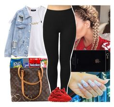 """""""Untitled #678"""" by msixo ❤ liked on Polyvore featuring Candie's, Blu Bijoux, Louis Vuitton and NIKE"""