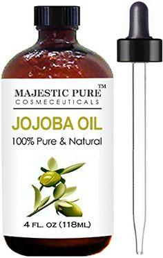 Majestic Pure Jojoba Oil for Hair and Skin, 4 fl. oz. Majestic Pure http://smile.amazon.com/dp/B00STVN68K/ref=cm_sw_r_pi_dp_.GVMwb1W7AG0V