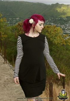 425508a679f Maternity Chic Striped Top Alternative Rockabilly PinUp Gothic from MamaSan  Maternity Apparel.  29.00