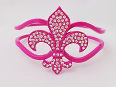 $12.00 - This is a beautiful bangle accented in high quality crystals. It has a hinge for easy wear and one size fits most. Another feature is it's oblong design so the fleur-di-lis stays on top of your wrist without turning to the back of your wrist.  #PINKBracelets #PINK #Bracelets #Bangle #PINKPixie   #Nonprofit    All of our proceeds go to educating women in crisis. www.pinkpixie.org