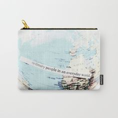 Ordinary People Carry-All Pouch by ARTbyJWP in Society6 #pouch #pouches #bag #bags #society6 #artbyjwp #ordinarypeople --- Organize your life with our Carry-All Pouches. Available in three sizes with wraparound artwork, these pouches are perfect for toiletries, art supplies or makeup. Even an iPad fits into the large size. Features include a faux leather pulltab for easy open and close, a durable canvas-like exterior and a 50/50 poly-cotton black interior lining. Machine washable.