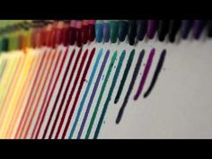 More crayon art, I'd like to know how he made them melt so uniformly and drip in nice straight lines.