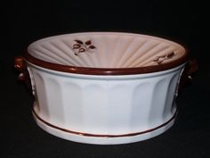 19C antique white ironstone copper luster tea leaf spittoon  in Pottery & Glass, Pottery & China, Art Pottery, Staffordshire | eBay
