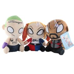 Features: Movie & TV,Stuffed & PlushFilling: PP CottonWarning: -Gender: UnisexAge Range: Years,GrownupsMaterial: CottonDimensions: Number: Jared Leto Joker, Captain Boomerang, Margot Robbie Harley Quinn, Killer Croc, Deadshot, Arkham Knight, Joker And Harley, Catwoman, Squad
