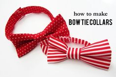 How to make a bow tie dog collar