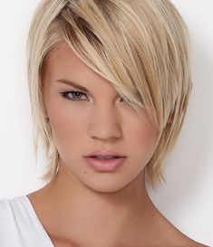 short hairstyle for long face thin hair - Google Search