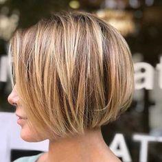 Best Short Bob Haircuts for Women - Frisuren - Cheveux Blunt Bob Haircuts, Bob Haircuts For Women, Best Short Haircuts, Short Hairstyles For Women, Easy Hairstyles, Hairstyles 2018, Hairstyle Ideas, Haircut Short, Haircut Styles
