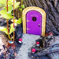 Welcome fairies into your home with this adorable fairy door. Made of wood and engraved with vine sprigs and flowers, with Welcome written over the door window. This fairy door is sure to grace your home with lovely wee people.  Listing is for 1 fairy door 4-1/4 x 6 inches 10.16 X 15.24 centimeters Door remains closed as it is only able to be opened by fairies. Please note - although the photo shows the door outside, these doors are for indoor use unless you decide to seal them. They are not…