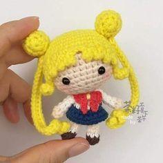 Sailor moon Sailor Moon Crochet, Sailor Moon Toys, Sailor Moon Crafts, Lalylala, Kawaii Crochet, Cute Crochet, Crochet Baby, Crochet Rabbit, Yarn Crafts
