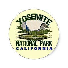 Yosemite National Park, California Sticker  1 1/2 inch - sheet of 20 - $5.95