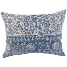 Blue & White Phoenix Batik Pillow (305 CAD) ❤ liked on Polyvore featuring home, home decor, throw pillows, pillows, antique home decor, blue and white home decor and blue and white throw pillows