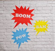 Pow Bam Boom Vinyl Wall Decal by Msapple on Etsy
