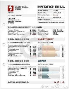 fake utility bill template free - fake utility bill template download