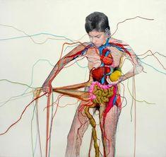 While hazarding the hospital for a non-Covid emergency,  Doña Quixote revisits her end-of-life decisions Arte Com Grey's Anatomy, Anatomy Art, Desenho Pop Art, Kunst Online, A Level Art, Gcse Art, Textile Artists, Art Plastique, Embroidery Art