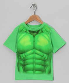 Take a look at this Green Hulk Uniform Tee - Toddler & Boys by C-Life on #zulily today!