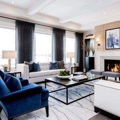 Elegant Living Room, Formal Living Rooms, Living Room Sets, Home Living Room, Living Room Designs, Living Room Drapes, Bedroom Drapes, Living Area, Luxury Interior
