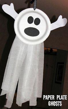 paper plate ghosts - simple, cute