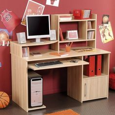 Handy Computer Desk Design Ideas With Natural Maple Wood Finish For Kids By Kurt Furniture of Fascinating Computer Desk Furniture Inspirations Wooden Computer Desk Office Computer Desk Furniture Modern Computer Desk Glass Computer Desk DIY Computer Desk . 600x600 pixels