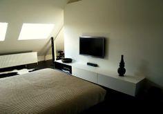 Reid | Senepart | architecten. Interieur / Renovatie / Dendermonde / Slaapkamer / Verbouwen van de zolder verdieping van een ééngezinswoning als penthouse, met dressing, master bedroom en badkamer onder het dak.