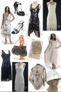 Love these 20's inspired dresses