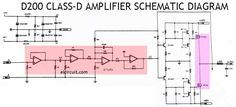 Power Amplifier is quite good and reliable in its performance has a power output of about suitable for you beginner making of class d amplifier and DIY audio. Diy Amplifier, Class D Amplifier, Diy Electronics, Electronics Projects, Electronic Circuit Design, Power Supply Circuit, Circuit Diagram, Repair Manuals, Horn Speakers