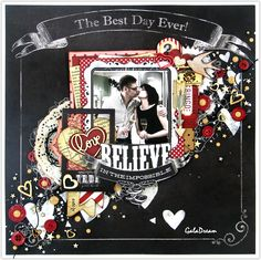 Valentine's Day - Scrapbook.com - Ephemera packs include lots of embellishments to provide visual interest on layouts.