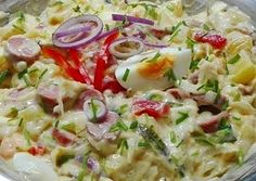 Korhely saláta recept foto Cold Dishes, Holidays And Events, Bon Appetit, Salad Recipes, Potato Salad, Bacon, Healthy Living, Paleo, Food And Drink