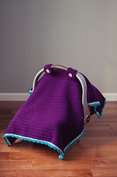 Ravelry: Car Seat Canopy Tent Afghan Cover pattern by Skinny Kitty Crochet