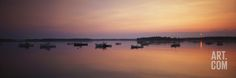 Boats at Dusk in Biddeford Pool, Maine, USA Photographic Print by Walter Bibikow at Art.com