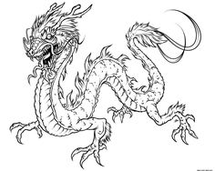 realistic dragon coloring pages  Printable Kids Colouring Pages