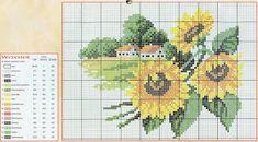 prima zi: diagrame goblen - lunile anului Cross Stitch House, Just Cross Stitch, Cross Stitch Flowers, Cross Stitch Designs, Cross Stitch Patterns, Cross Stitch Landscape, Four Seasons, Cross Stitching, Needlepoint