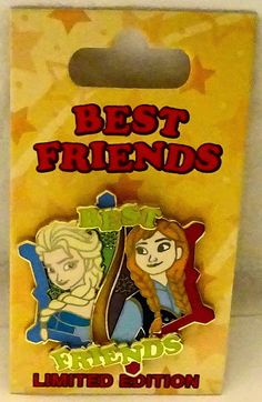 Disney Best Friends Pin of the Month Frozen Elsa & Anna LE 3000 #2 Pin Set New $34.99