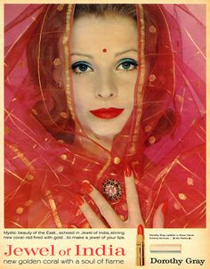 Dorothy Gray - Jewel of India - new makeup colors... 1960