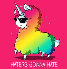 A rainbow llama unicorn for when your sad