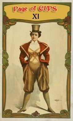 Page of Cups - Vaudeville Tarot