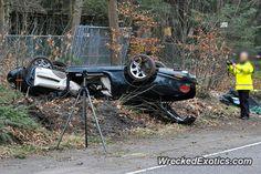 Jaguar XK crashed in Apeldoorn
