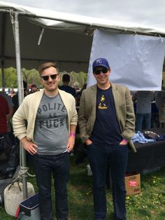 Bourgmont Brewing Co - Zach and Phillip serving up their latest creations at the #parkvillebeerfest