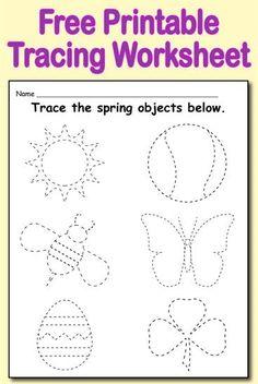 Free Printable Spring Themed Tracing Worksheet