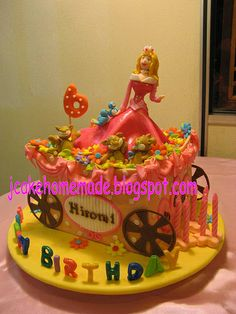 Disney Princess sleeping beauty cake